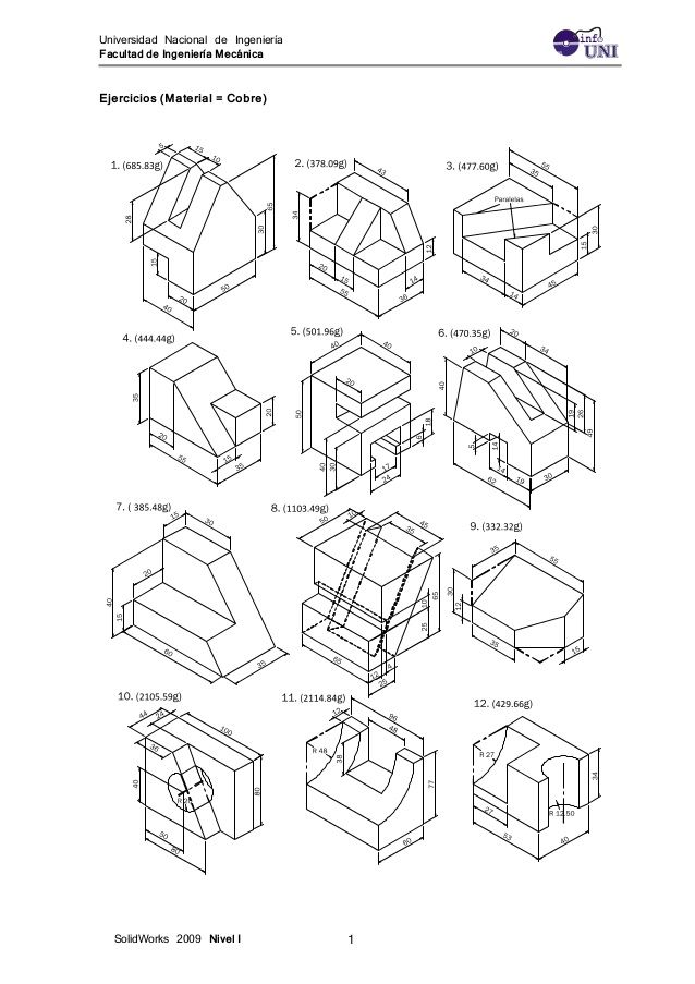 Ejercicios Solidwork 1 Isometric Drawing Isometric Drawing Exercises Isometric Sketch