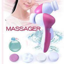 Atacado 1 pcs 5 em 1 Elétrica Lavagem de Cara Máquina Facial Pore Cleaner Corpo Limpeza Massagem Mini Beleza Da Pele Massageador escova(China (Mainland))