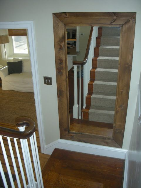 Extra Large Framed Mirror On Staircase Swoon Style And