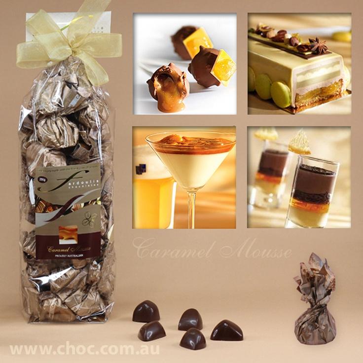 Caramel Mousse Cellophane bags  Fardoulis Chocolates, Chocolate Plato  www.choc.com.au