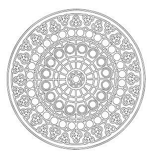 Mandala para colorear hadas