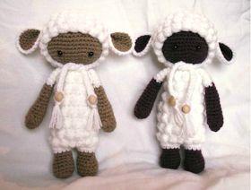 700 схем амигуруми на русском: Кукла-овечка Лали