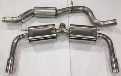 Billy Boat Cat-Back Exhaust - Dual Single Tips (2015+ A3 Quattro)
