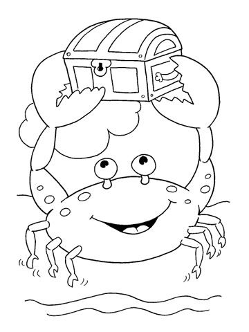 Mr. Crab Coloring pages