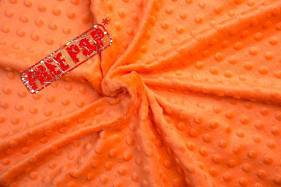 Minky plush fabric, minky dimple, orange dot plush, kids room ... : quilting supplies wholesale - Adamdwight.com