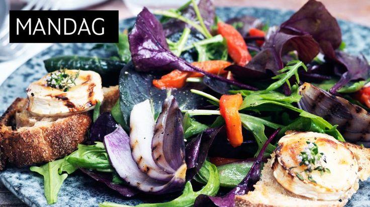 GODT: Super salat med smakfull dressing og ostetoast!