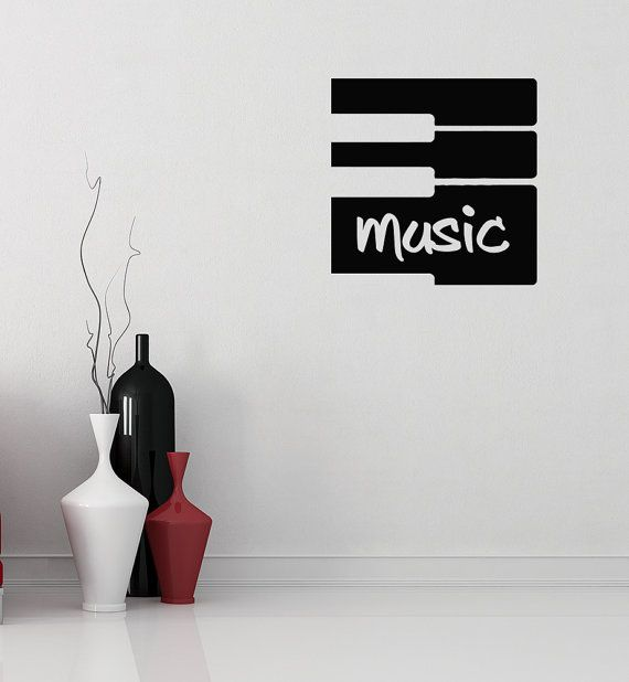 Musical Wall Decals Piano Key Vinyl Sticker Room Nursery Home Decor aa104