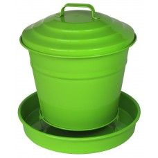 Mangeoire à silo vert