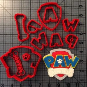 Paw Patrol Logo Cookie Cutter Set-GREAT site for cookie cutters, silicone molds, etc