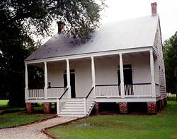 Alliet House is an example of a smal Creole Louisiana Plantation House