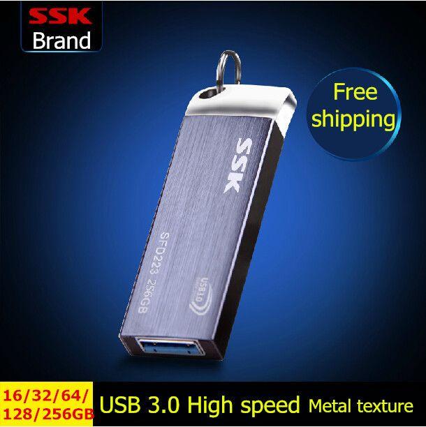 Ssk SFD223 Usb 3.0 Flash drive, 100% 256 GB 128 GB 64 GB 32 GB 16 GB Pen drive, Logam kecepatan tinggi tahan air Usb stick, Pengiriman gratis