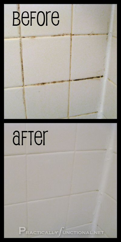 DIY make your own grout cleaner --- Practically Functional