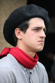 Gaucho in typical attire, like many you'll find in Rio Grande do Sul, Brazil's southernmost state