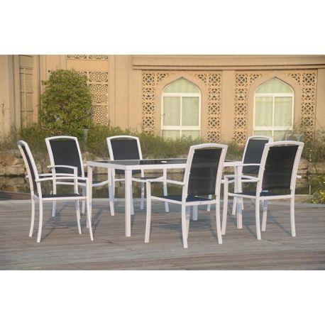 Conjunto exterior banatu compuesto de 6 sillones y mesa for Conjunto sillones exterior