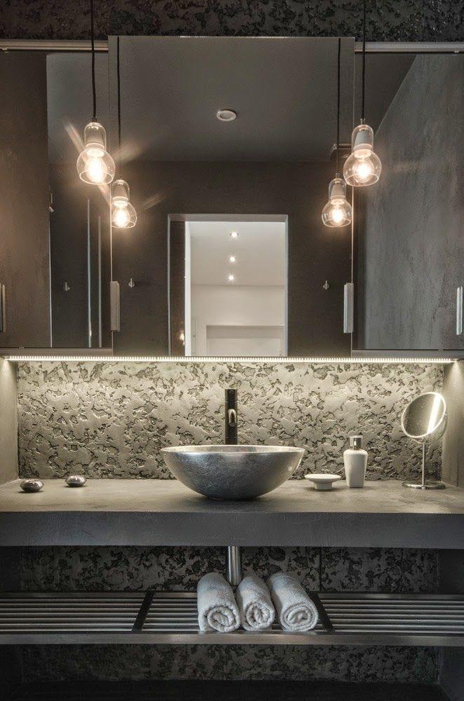 Cosa mi piace: lavabo a scodella sospeso in appoggio su pianale con vetro grande