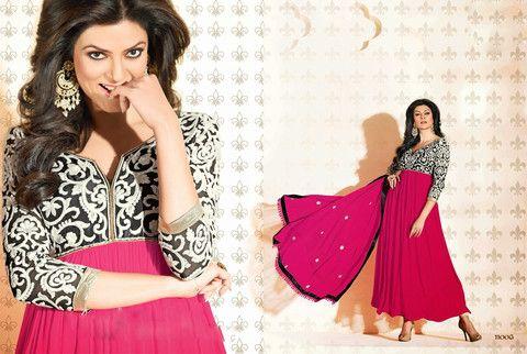 Attractive Sushmita Sen Anarkali Suits 2014-006 | Veeshack Shop