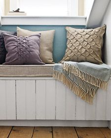 How to add textural accents to ordinary pillow covers