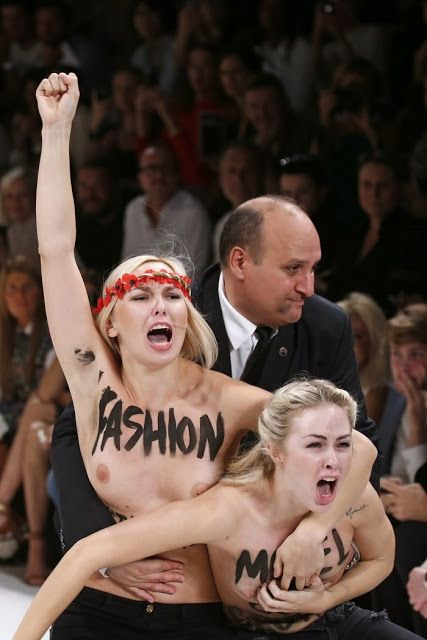 Topless Femen Protesters Hit Paris Fashion Week [PHOTOS] | Ye Olde Journalist
