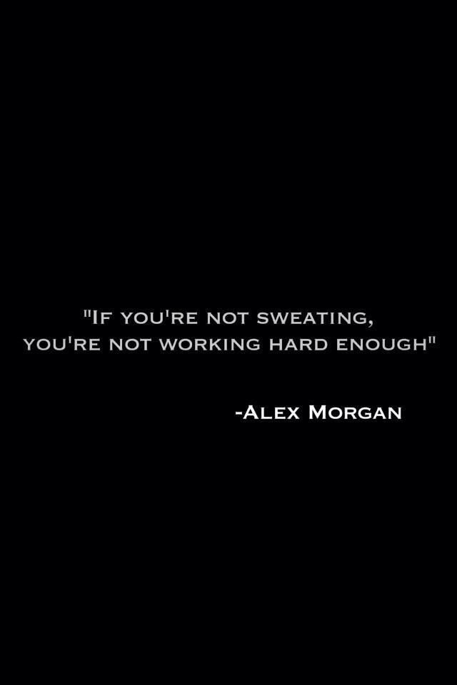 YES!!!!!!!!!! If you're not sweating you're  not working hard enough