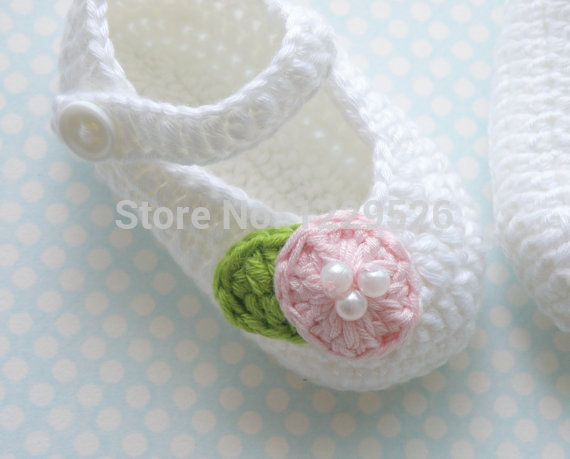 Детское вязание крючком туфли, Белый крючком балерина, Маленькая девочка крещение туфли, Подарок для маленьких детей, Хлопок туфли для ребенка