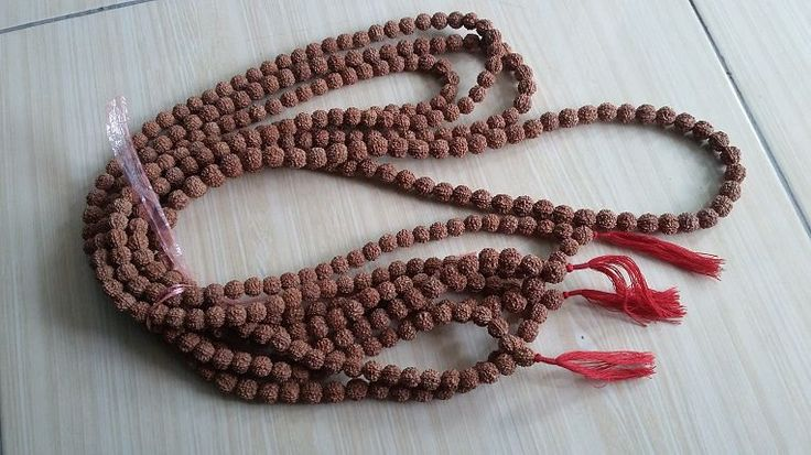 Package 4 Mala 6 Mukhi six Rudraksha Japa Mala Rosary 108 +1 BEAD HINDU YOGA by RudrakshaJava on Etsy