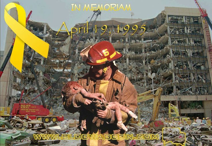 April 19, 1995: 168 people, including 8 Federal Marshals, were killed in the bombing of a federal building in Oaklahoma City. Timothy McVeigh and Terry Nichols were charged and convicted in this case. For their roles in the bombing Terry Nichols received a life sentence and Timothy McVey was sentenced to death.