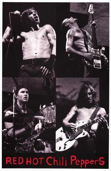 Red Hot Chili Peppers Band Photo Collage Rare Poster