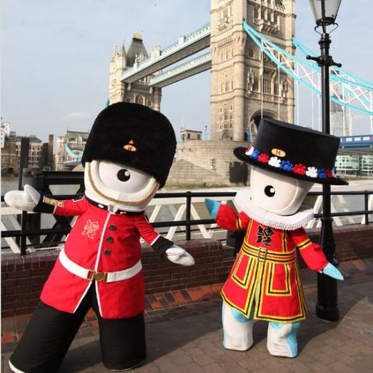 These aren't very cute, actually. They're the stuff of NIGHTMARES. They are...the mascots of the London 2012 Olympics.