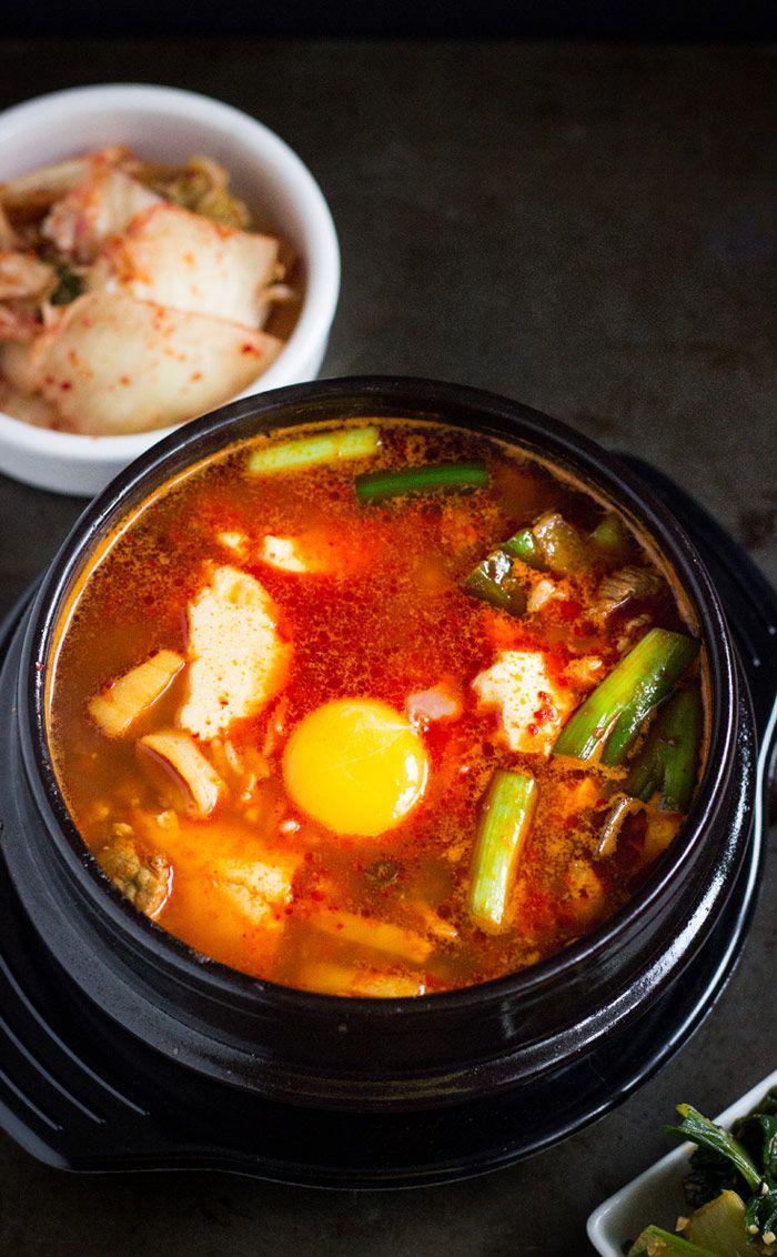 How to Make Soondubu Jjigae - Spicy Korean Soft Tofu Stew ...