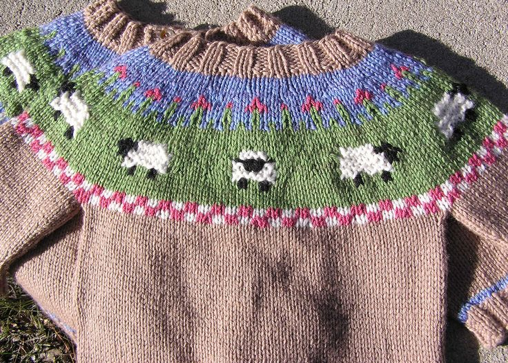 Ravelry: Sheep Yoke Baby Cardigan by Jennifer Little
