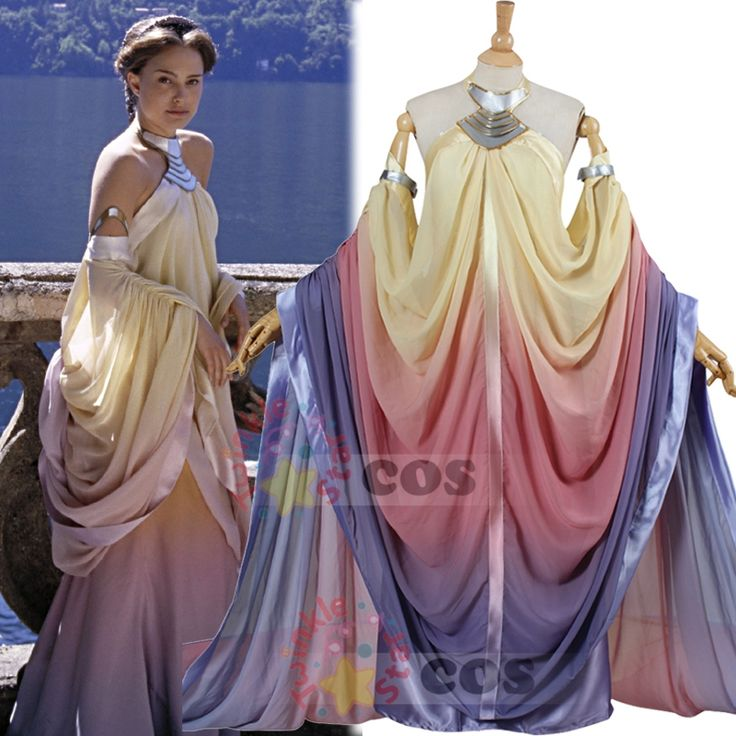 2016 star wars costume Revenge of the Sith Padme Amidala lake dress Star Wars Padme Amidala costume cosplay dress custom made