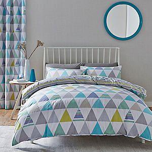 Catherine Lansfield Scandi Geo Duvet Cover & Standard Pillowcase Set #kaleidoscope #bedroom