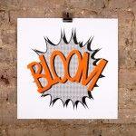 Bloom – Orange/Black proof by Sarah Boris