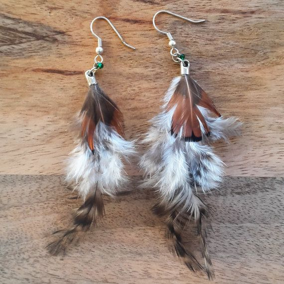 Real feather earrings by JdwCrafts on Etsy
