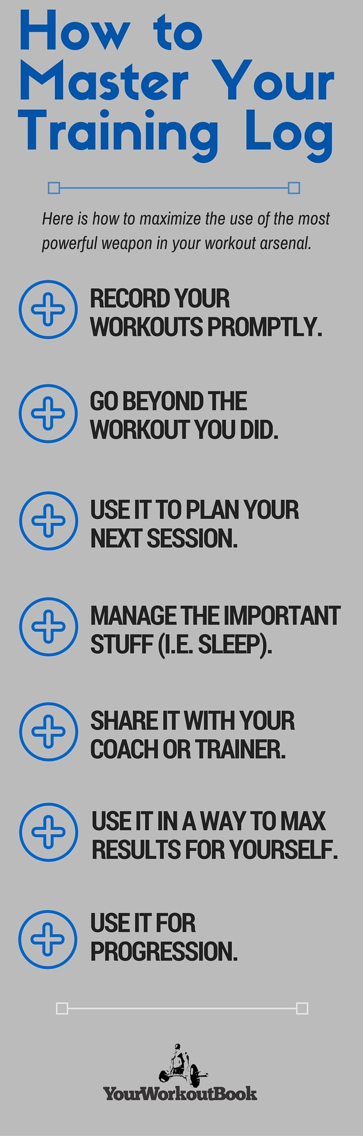 How to Master Your Workout Log Book | http://www.yourworkoutbook.com/master-the-training-log/
