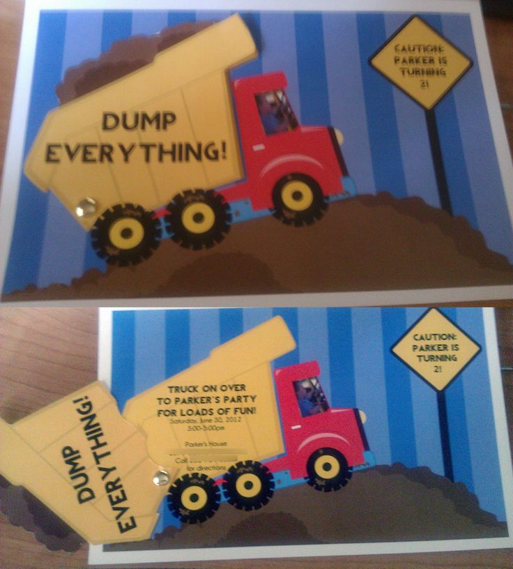 Best 25 Construction party invitations ideas – Dump Truck Party Invitations