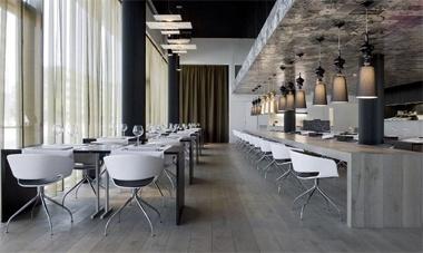 industrieel interieur restaurant