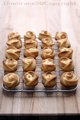 Sweet Roses Cookies - Bulgarian Recipe. Use Google Translate to read recipe in English