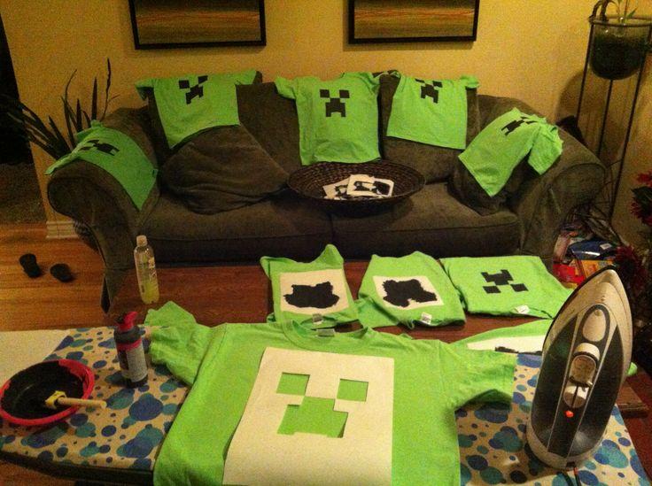 Minecraft Craft Ideas For Kids Part - 24: Custom Minecraft Creeper Shirts · Minecraft CraftsMinecraft Party IdeasKids  ...