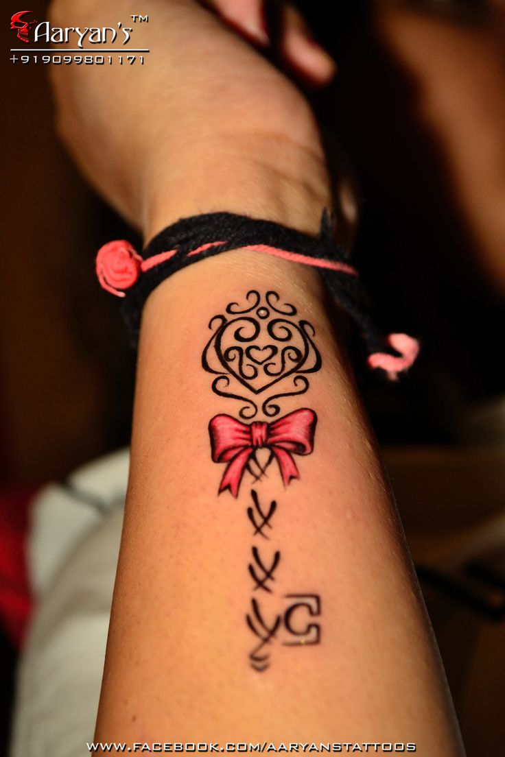 Bow Tattoo Designs -   Bow Key Tattoo Design Ideas