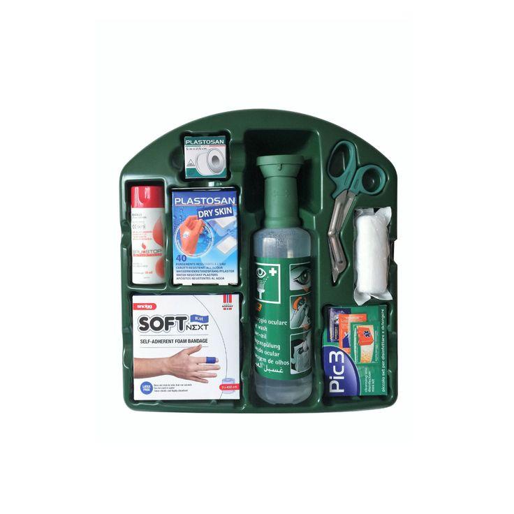 Il kit pronto soccorso K9 è ideale per ustioni, medicazione e lavaggio oculare; un kit 3 in 1 con in omaggio il dispenser per cerotti Bolero.