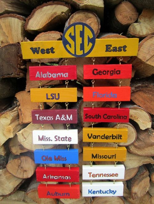 College Football Standings Board. I'm just obsessed enough to want this!