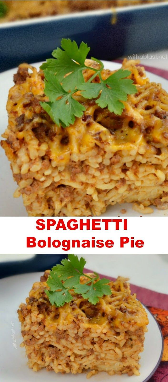 The popular Spaghetti Bolognaise pasta dish now in a Pie ! Easy everyday dinner or slice into blocks when cold and take on a picnic