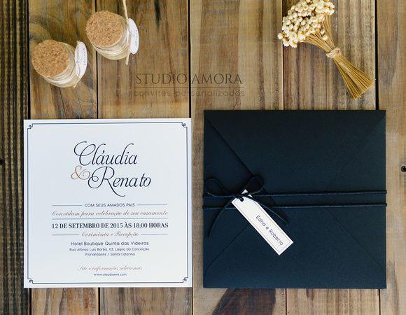 Convite de casamento moderno