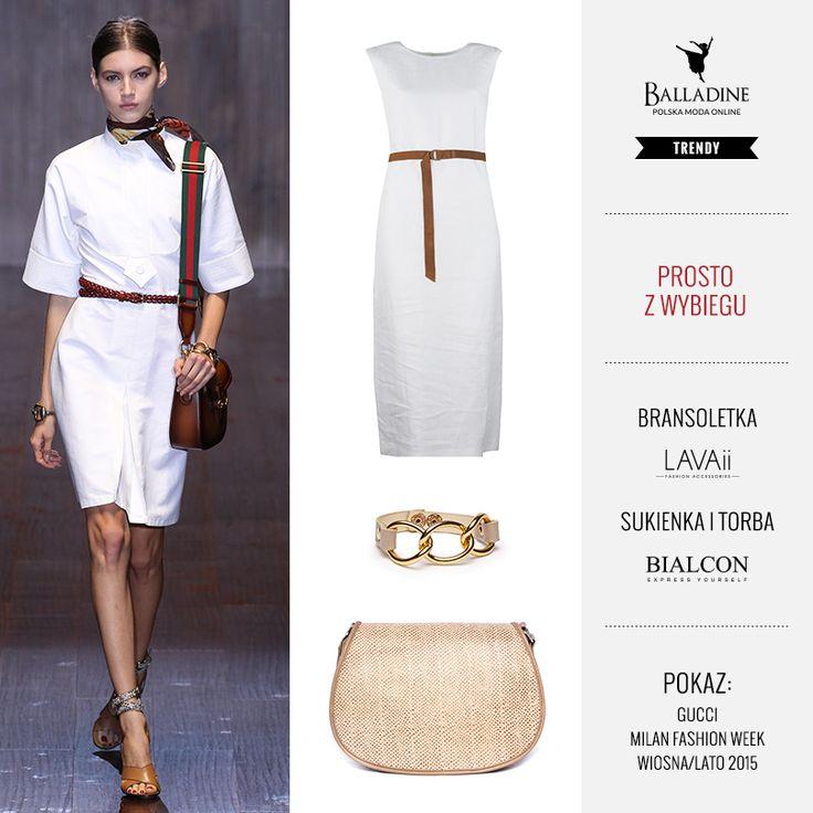 Dziś stylizacja prosto z wybiegu! Na nadchodzące upały nie znajdziecie nic lepszego niż przewiewna lniana sukienka :)   Sukienka Bialcon | http://goo.gl/r75lnG Bransoletka Lavaii | http://goo.gl/4GPgAq Torba Bialcon | http://goo.gl/pSg3u2