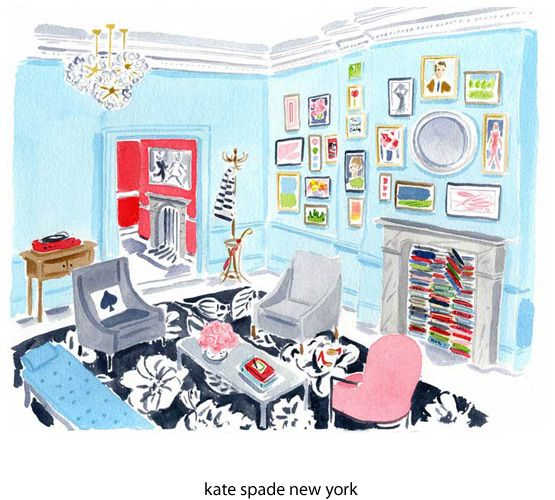 Gorgeous watercolors: Blue Rooms, Living Rooms, Interiors Color, Illustrations, Blue Wall, Art, Caitlin Mcgauley, Robins Eggs Blue, Kate Spade