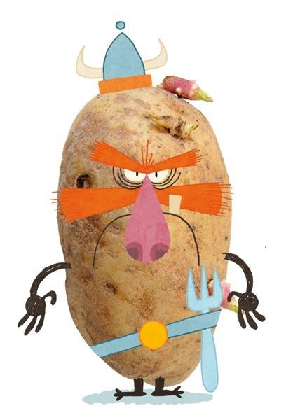 Brave Potato! | Illustrator: Sir Franagan - http://www.isladebabia.blogspot.com