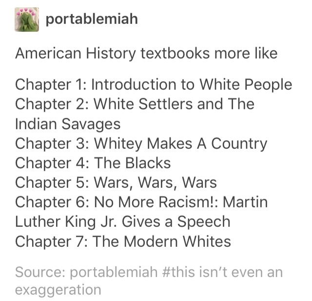 The APUSH textbook i had was a little better, but even that isnt saying much