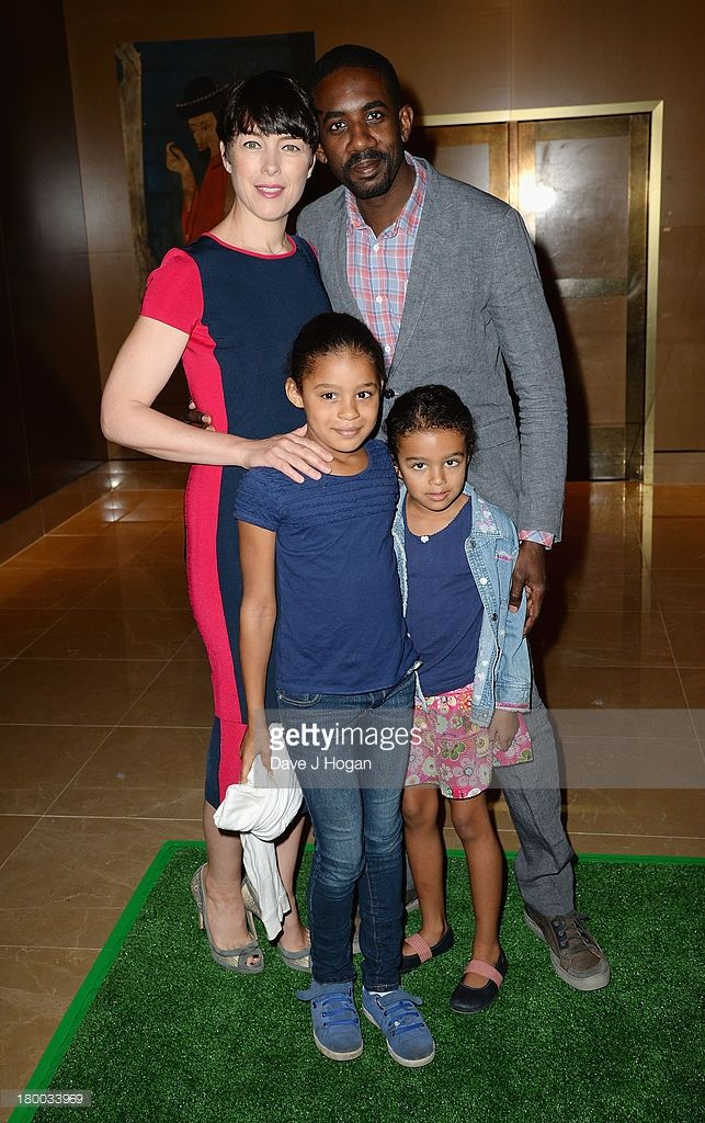 Olivia Williams, Rhashan Stone, Roxana May Stone and Esmé Ruby Stone attends the UK Premiere of 'Justin and the Knights of Valour' at the May Fair Hotel on September 8, 2013 in London, England.