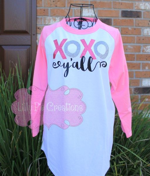 Custom XOXO Y'all Unisex Raglan Jersey Valentine's Day Adult Shirt